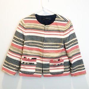 The limited striped tweed blazer NWOT